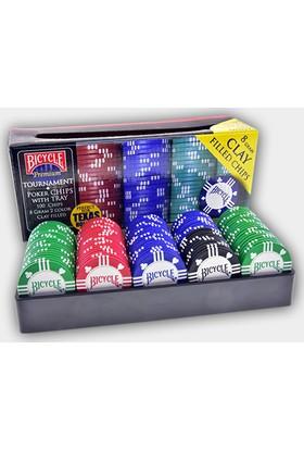 Pusula Oyun Amerika Bicycle Premium 100 Adet Poker Fişi (8 Gr Clay Poker Chip)