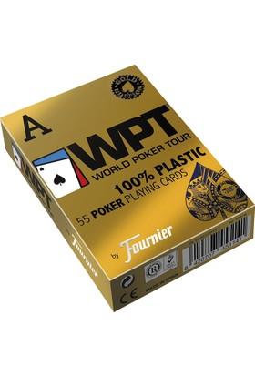 Pusula Oyun Fournier Wpt Gold Edition Plastik Poker İskambil Oyun Kağıdı Destesi ( Wpt Oyun Kartı Mavi)