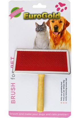 Eurogold Kedi / Köpek Tahta Saplı Fırça Medium