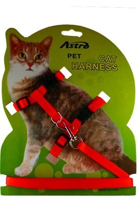 Astro Kedi Göğüs Tasması Kırmızı
