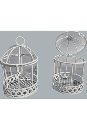 Tahtakale Toptancısı Kuş Kafesi Kenar Altı Desenli Beyaz (10 Adet)