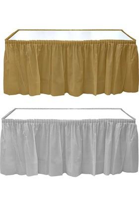Tahtakale Toptancısı Plastik Masa Kenarı Eteği Altın/Gümüş