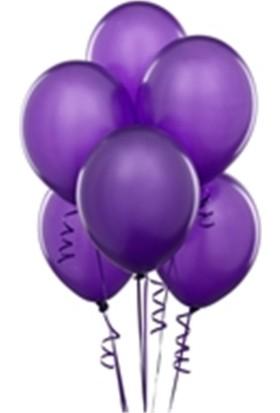 Sihirli Parti Metalik Balon Mor (20 Adet)