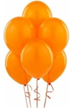 Sihirli Parti Metalik Balon Turuncu (20 Adet)