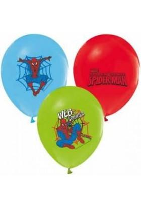 Sihirli Parti Örümcek Adam Spiderman Baskılı Balon (10 Adet)