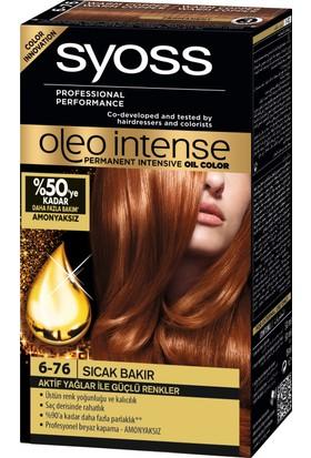 Syoss Oleo Intense Color 6-76 Sıcak Bakır Saç Boyası