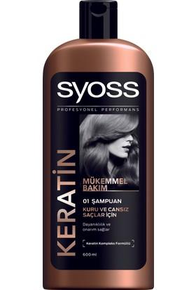 Syoss Şampuan Keratin Mükemmelliği 600 Ml