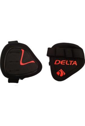 Delta Bat Grip Pad Body & Ağırlık & Fitness Eldiveni - Siyah & Kırmızı