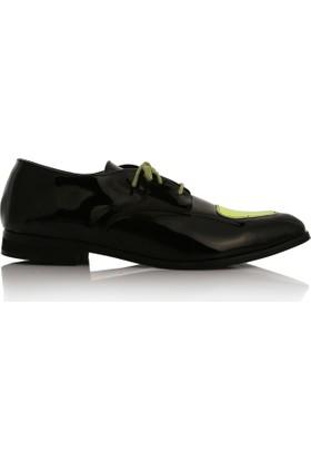 EsMODA Cc-2020 Siyah Sarı Kadın Günlük Ayakkabı