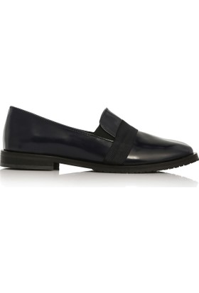 EsMODA Cc-2040 Lacivert Deri Kadın Günlük Ayakkabı