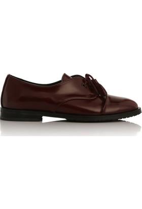 EsMODA Cc-2050 Bordo Deri Kadın Günlük Ayakkabı