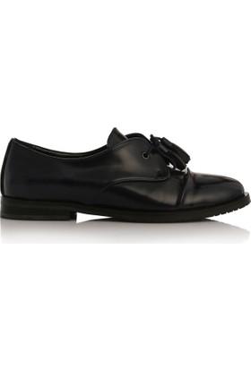 EsMODA Cc-2050 Lacivert Deri Kadın Günlük Ayakkabı