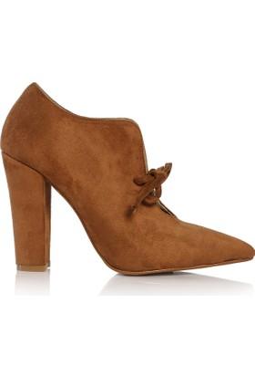 EsMODA Cc-191 Lacivert Süet Klasik Topuklu Ayakkabı