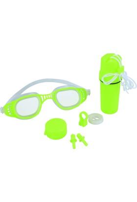 Bestway Hydro Swim Junior Unisex Swimming Goggles / Genç Çocuk Havuz Deniz Gözlüğü Seti / Gözlük Kulak Tıpaçı Burun Tıpaçı Saklama Kutulu Set