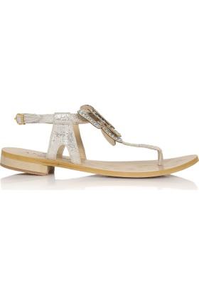 EsMODA Cc-6700 Gümüş Kadın Sandalet