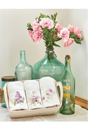 Karaca Home Flowers 30x50 Havlu 5li Set Lila