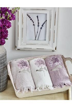 Karaca Home Trina 50x76 Nakışlı Havlu Seti Lila
