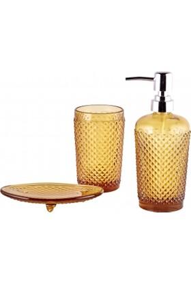 Karaca Home Joy 3lü Banyo Seti Amber