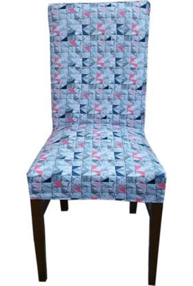 Akçağ Koltuk Örtüsü Sandalye Kılıfı Likralı Desenli Mozaik