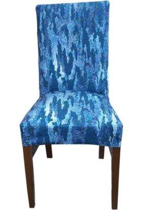 Akçağ Koltuk Örtüsü Sandalye Kılıfı Likralı Desenli Şelale