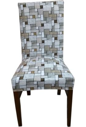 Akçağ Koltuk Örtüsü Sandalye Kılıfı Likralı Desenli Terapi