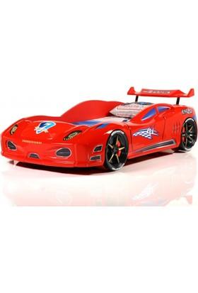 Lüx Enzo Arabalı Yatak Kırmızı