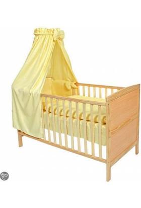TecTake Bebek Karyolası Yatak Ahşap Sarı