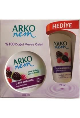 Arko Nem Meyve Özlü Krem 300Ml + 75Ml Hediye Nemlendirici