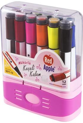 Tekreyonda Red Apple Kutulu Renkli Mühürlü Keçeli Kalem 12'Li Kutu