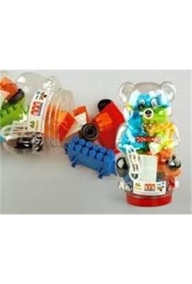 Tekreyonda Panda Ayıcıklı 34 Parça Renkli Lego Seti