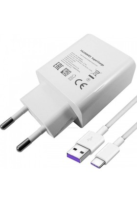 Huawei Super Charge Hızlı Şarj Cihazı + USB Type-C Kablo (İthalatçı Garantili)