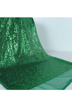 Modastra Yeşil Pullu Payet Kumaş