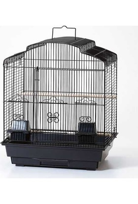 Qh Pet Cage Kafes Oval Çatılı Prinç 47X36X56 (4)