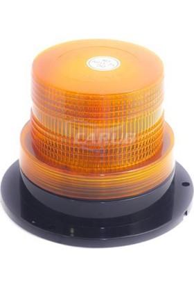 Nettedarikcisi Forklift İş Makinası Sarı Tepe Lambası Mıknatıslı 12 - 110 Volt