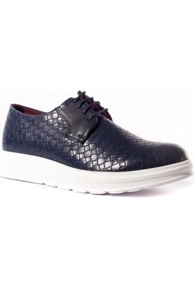 Conteyner Erkek Ayakkabı 548223 Lacivert-Örgülü