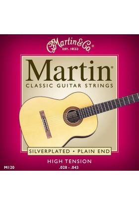 Martin M120 Klasik Gitar Teli Silverplated (High Tension)
