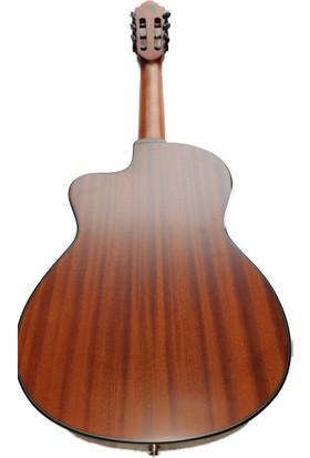 Cross Guitars Cross Cut-Away Elektro Klasik Gitar