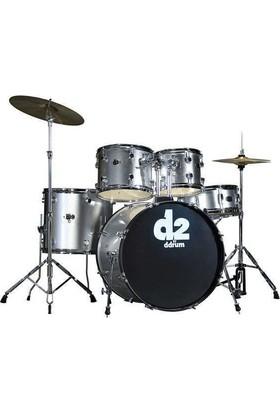 Ddrum D2 - 5 Parça Davul Seti - Brushed Silver
