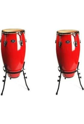Rhythm Percussion Coc120 - Tumba Fiberglass Standlı Tumba (Kırmızı)