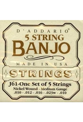 Daddarıo J61 Banjo Tel Set Nickel Medium Tension