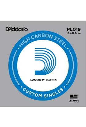 Daddarıo Pl019 Elektro Ve Akustik (G) Sol Teli