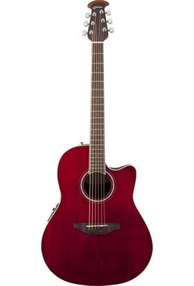 Ovation Cs24-Rr Celebrity Elektro Akustik Gitar Standard Cutaway Ruby Red (Fırsat Ürünü)