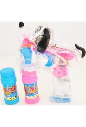 50bir Bubble Gun LED Işıklı, Pilli Baloncuk Tabancası + 2 Şişe Köpük