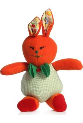 İpekbocegi El Emeği Çekik Gözlü Papyonlu Sari Tavşan