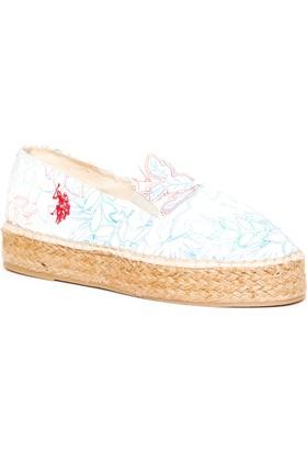 U.S. Polo Assn. Kadın Y7Karla Ayakkabı Beyaz