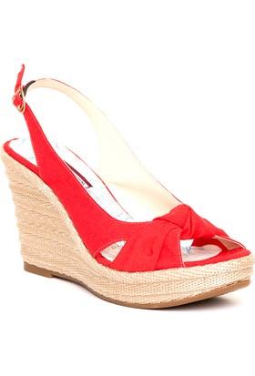 U.S. Polo Assn. Kadın Y7Anne Sandalet Kırmızı