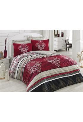 Cottonbox Royal Saten Çift Kişilik Uyku Seti Azra Bordo