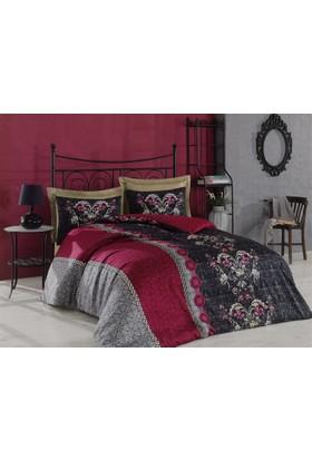 Cottonbox Royal Saten Çift Kişilik Uyku Seti Cassandra Mürdüm