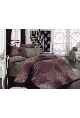 Cottonbox Royal Saten Çift Kişilik Uyku Seti Sema Eflatun