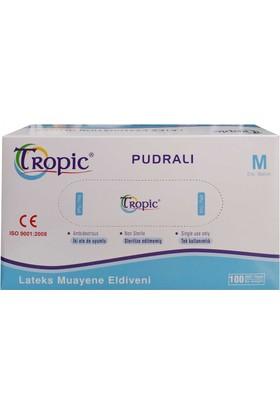 Tropic Pudralı Lateks Muayene Eldiveni M (100'lü Paket )